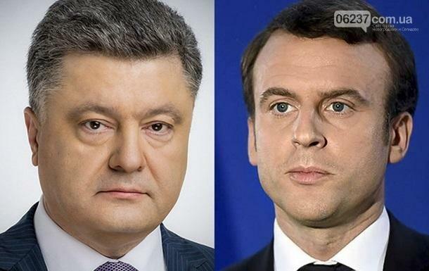 Президент Украины Петр Порошенко провел телефонный разговор с президентом Франции., фото-1