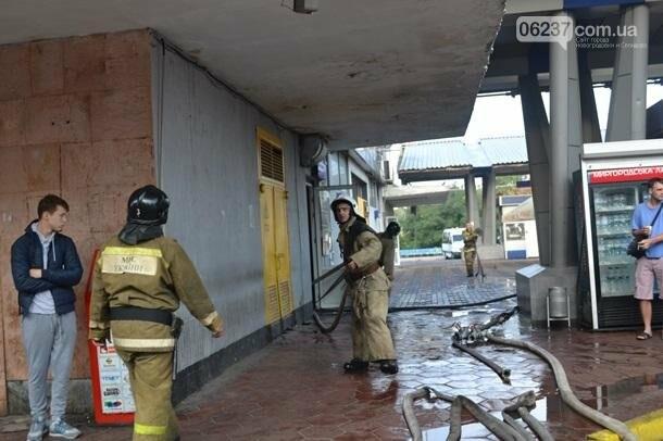 В Одессе горел центральный автовокзал, фото-1
