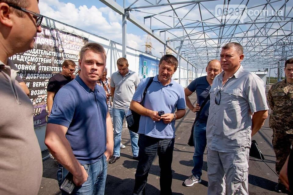 На КПВВ «Мар'їнка» вже завершили монтаж відкритих збірних конструкцій, фото-2