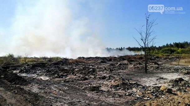 Под Балаклеей вертолеты тушат пожар на свалке, фото-1