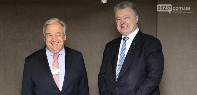 Порошенко обсудил с генсеком ООН вопрос миротворцев для Донбасса, фото-1