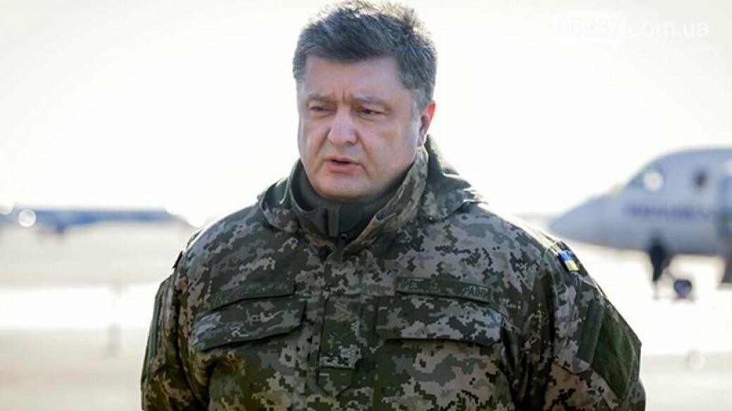 Визит на передовую: в 2 км от места пребывания Петра Порошенко произошел обстрел, фото-1