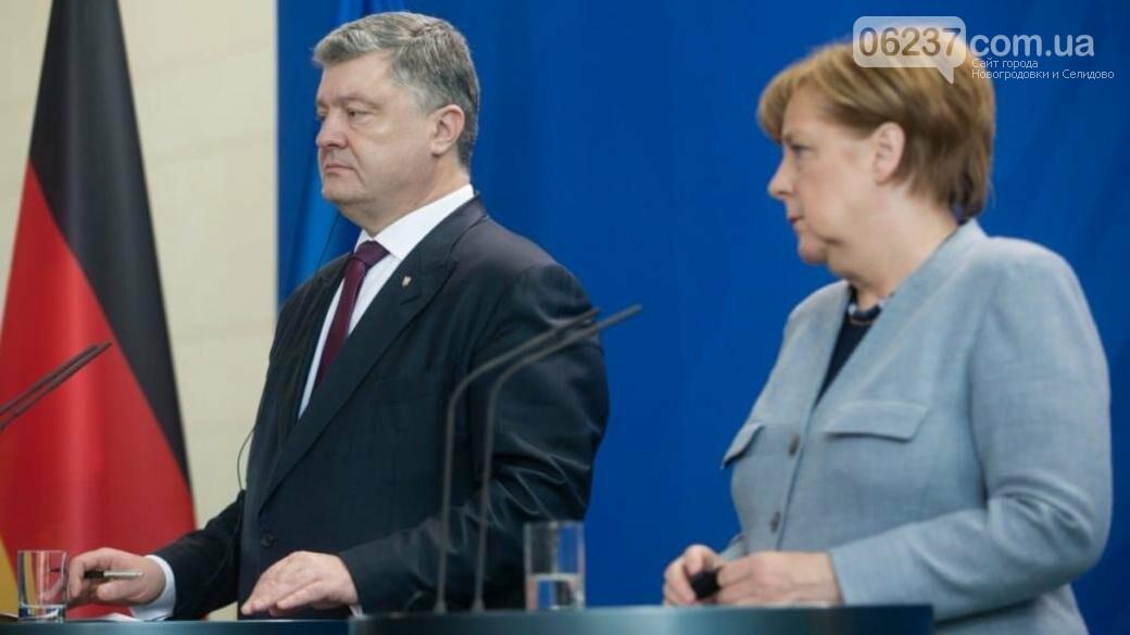 Порошенко и Меркель обсудили по телефону шаги по усилению давления на РФ, фото-1