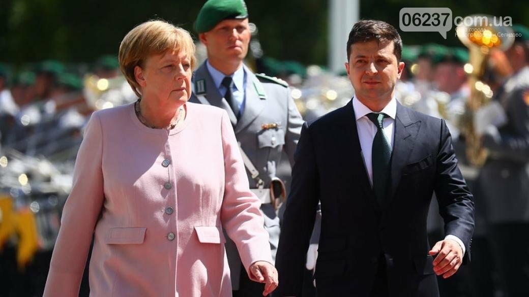 Зеленский провел первую встречу с Ангелой Меркель, фото-1