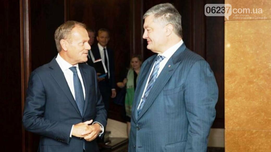 Порошенко встретился с Туском и сделал заявление, фото-1