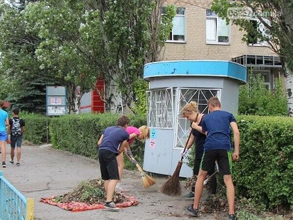 Порядок в Селидово наводят подростки, фото-1