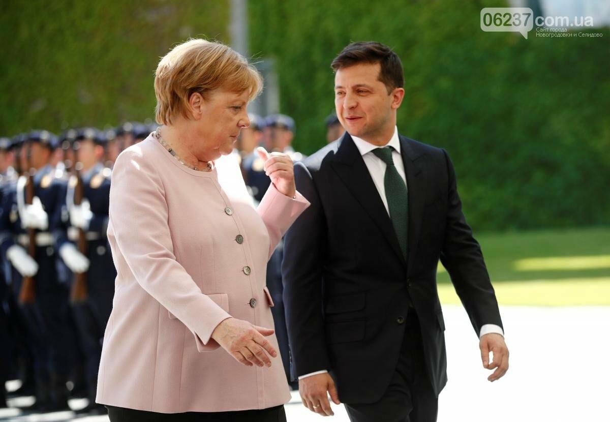 Зеленский и Меркель обсудили ситуацию на Донбассе, фото-1