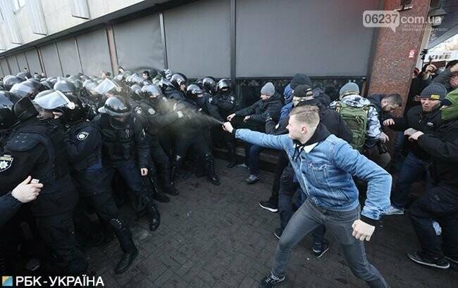 Под Радой произошли стычки протестующих с полицией, фото-1