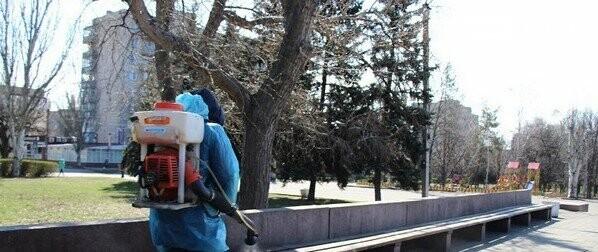 В Селидово в связи с эпидемией коронавируса проводят дезинфекцию города, фото-1