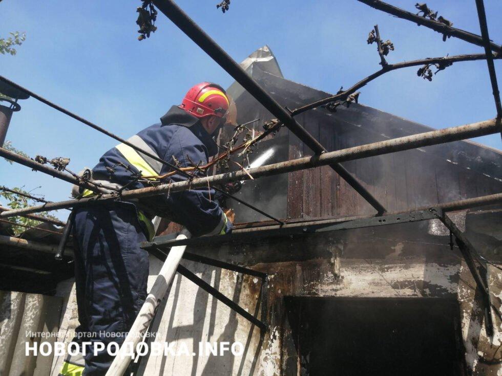 В результате пожара в Селидово пострадал пожилой мужчина, фото-1